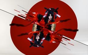 Картинка стиль, японка, флаг, мец