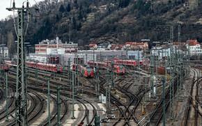Картинка станция, железная дорога, поезда