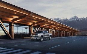Картинка Truck, Silver, Silverado, Z71, Pick Up, Chevroet, 2019