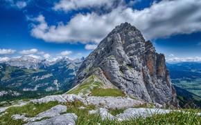 Картинка небо, горы, скала