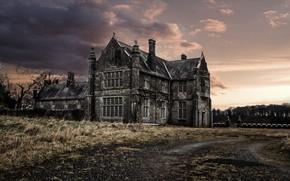 Картинка дом, фон, мрак