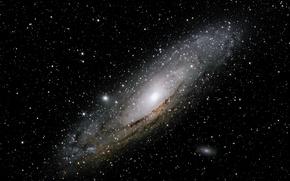 Обои космос, Галактика Андромеды, к Млечному Пути, Ближайшая