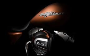 Картинка Harley Davidson, шильдик, бак, fine art photography