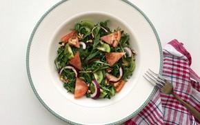 Картинка киви, овощи, салат, руккола, вегетарианец