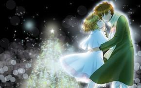 Картинка романтика, аниме, мальчик, девочка, Card Captor Sakura, Сакура - собирательница карт