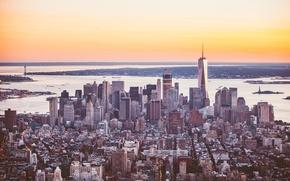 Обои город, здание, небоскребы, панорама, мегаполис, New York