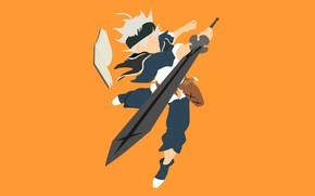 Картинка sword, weapon, anime, boy, ken, blade, manga, oni, mahou, japonese, madoshi, Black Clover, Asta, by …