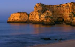 Картинка море, скалы, берег, Португалия