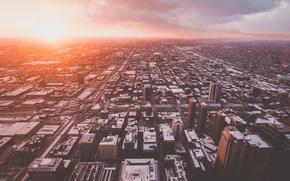 Обои город, Чикаго, панорама, USA, США, Америка, United States, Chicago, вид сверху, с высоты, Skydeck Chicago
