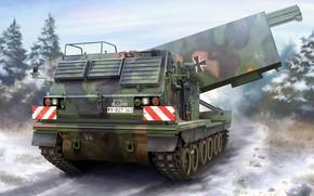 Картинка Германия, РСЗО, MLRS, M270, американская универсальная пусковая установка, Multiple Launch Rocket System