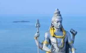 Обои Мурудешвара, океан, Шива, статуя, Индия