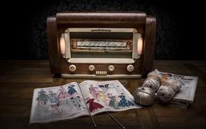 Картинка спицы, журнал, радиоприёмник