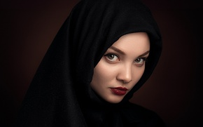 Картинка девушка, макияж, губки, прелесть, Степан Гладков