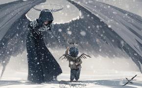 Картинка Ангел, Art, Ghostblade, Wlop