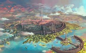 Картинка Oblivion, The Elder Scrolls, Empire, Cyrodiil, City of Cyrodiil, Tes