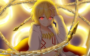 Картинка мальчик, арт, цепи, Fate Grand Order