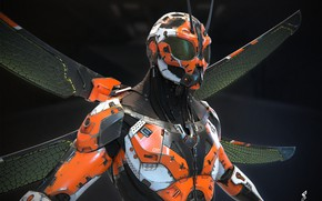 Картинка крылья, Droid, Dragonfly