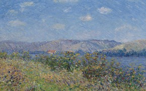 Картинка пейзаж, картина, Гюстав Луазо, Gustave Loiseau, Берега Сены. Турнедо-Сюр-Сена