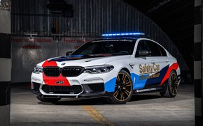 Картинка MotoGP, 2018, мигалки, Safety Car, BMW M5