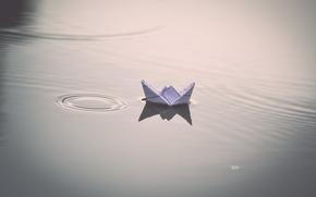 Картинка вода, фон, корабль