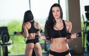 Картинка female, mirror, fitness, wokout