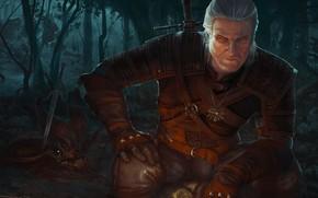 Картинка арт, Ведьмак, Геральт, The Witcher 3: Wild Hunt