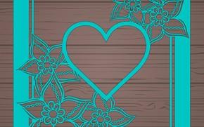Обои цветы, сердечко, wood, floral, abstract, текстура, абстракция