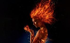 Обои Dark, Action, Olivia Munn, Mystique, X-Men, Storm, year, 2018, James McAvoy, Magneto, Michael Fassbender, Professor, ...