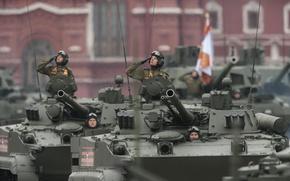 Картинка парад, боевая, БМП-3, гусеничная машина, бронированная