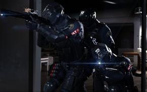 Картинка seifuku, gun, uniform, rifle, SWAT, soldier, weapon, Detroit: Become Human, game