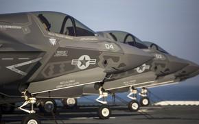 Картинка USA, F-35, military aircraft, USA Air Force, Lockheed Martin F-35