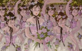 Картинка цветы, девушки, танец, Suzanne Eisenbieck
