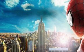 Картинка взгляд, spider man, new York, the amazing spider man 2