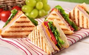 Картинка сыр, хлеб, тосты, бутерброды, ветчина