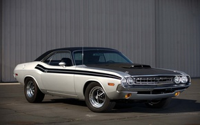 Картинка silver, Dodge Challenger, american muscle classic