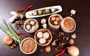 Картинка грибы, еда, японская кухня