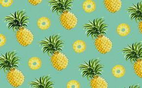 Обои еда, вектор, ананас, плод