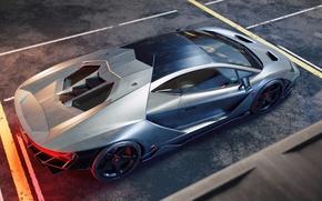 Обои Italian, Centenario, Silver, Supercar, Rear, Lamborghini
