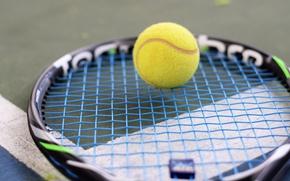 Картинка мяч, ракетка, теннис