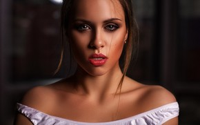 Обои плечи, лицо, Татьяна Боброва, Павел Мыльников, взгляд, портрет