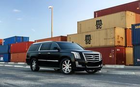 Картинка Cadillac, Escalade, Black