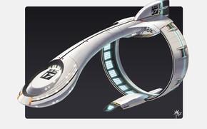 Картинка конструкция, летательный аппарат, Warp Ship