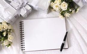 Картинка Ручка, Цветы, Праздник, Розы, Подарок