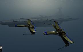 Картинка космос, корабль, аппараты, x-fighter, StarWars is coming