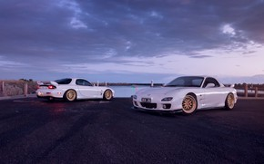 Обои Mazda, Cars, White, RX-7, Sport