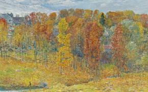 Картинка пейзаж, картина, Осень, Frederick Childe Hassam, Чайльд Гассам