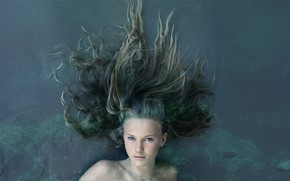 Картинка вода, девушка, волосы, Mermaid