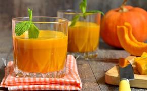 Картинка сок, тыква, juice, овощи, мята, pumpkin, soup, mint, vegetables, пюре, тыквенный, puree