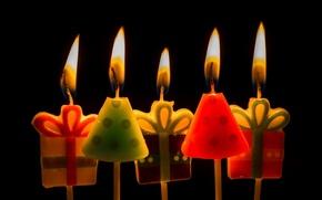 Картинка фон, свечи, Happy birthday