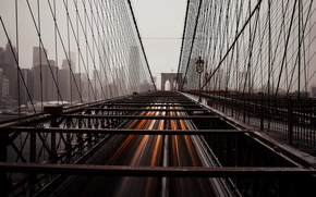 Обои New York, Brooklyn Bridge, Civic Center